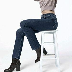 Mavi Kendra High Rise Jeans Straight Leg Dark Wash